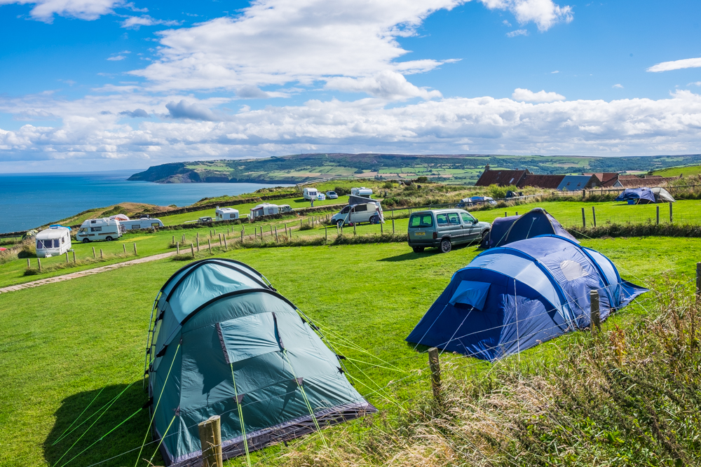 Bayness Farm Campsite. Stunning Views Across The Bay To Ravenscar