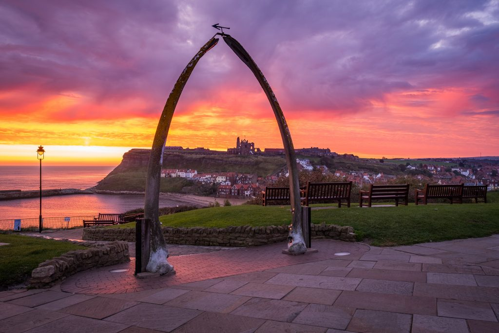 Sunrise At Whitby Whale Bones - Photograph By Glenn Kilpatrick, The Whitby Photographer ®